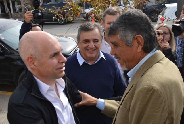 """Carrió y Larreta se reunieron con """"El Gato"""" Romero 2"""