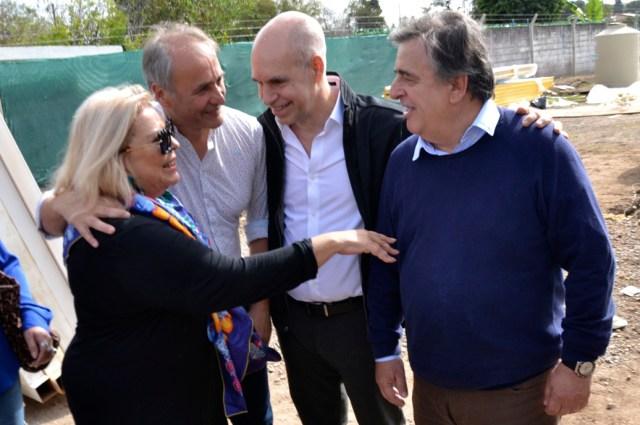 """Carrió y Larreta se reunieron con """"El Gato"""" Romero 1"""