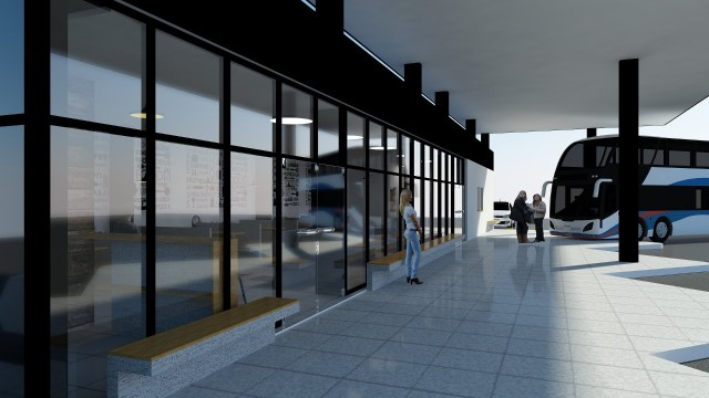 Río Ceballos muestra el proyecto de la nueva Terminal de Ómnibus 1