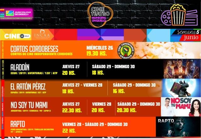 El Cine Teatro Municipal de Unquillo actualiza su cartelera 4