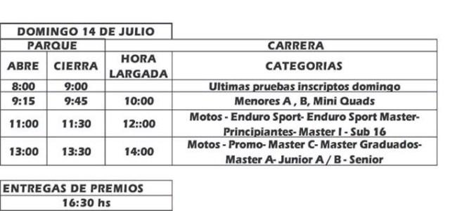 Quinta fecha del Campeonato Provincial de Enduro 2