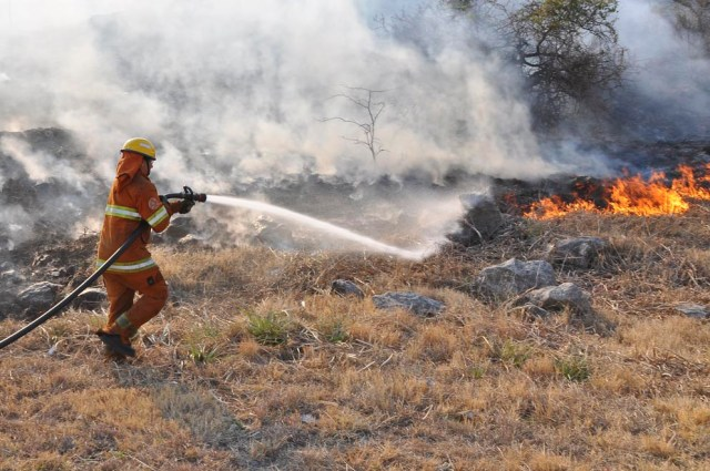 El índice de riesgo de incendios forestales es MUY ALTO 1