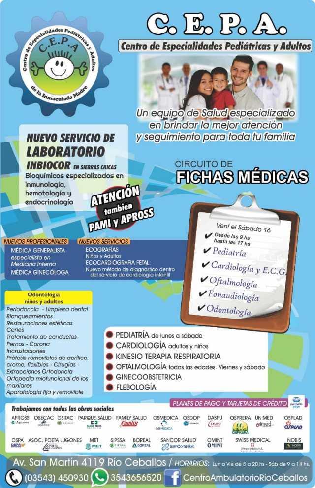 Certificados escolares: el Centro de Especialidades Pediátricas y Adultos de Río Ceballos informa sus novedades 44