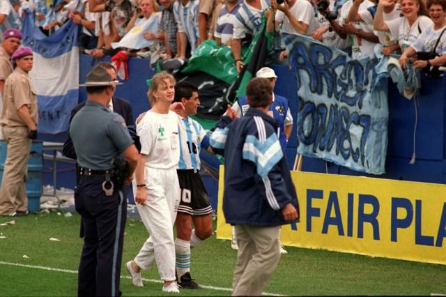 Buenos Aires: Fotografía de archivo de 1994 de Diego Armando Maradona, quien cumple 60 años mañana.  Foto: Carlos Ventura/telam/cf