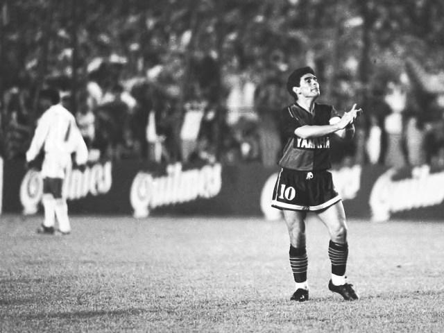 Buenos Aires: Fotografía de archivo del día 13/09/1993 de Diego Armando Maradona, quien cumple 60 años mañana.  Foto: Norberto González/Télam/AMB