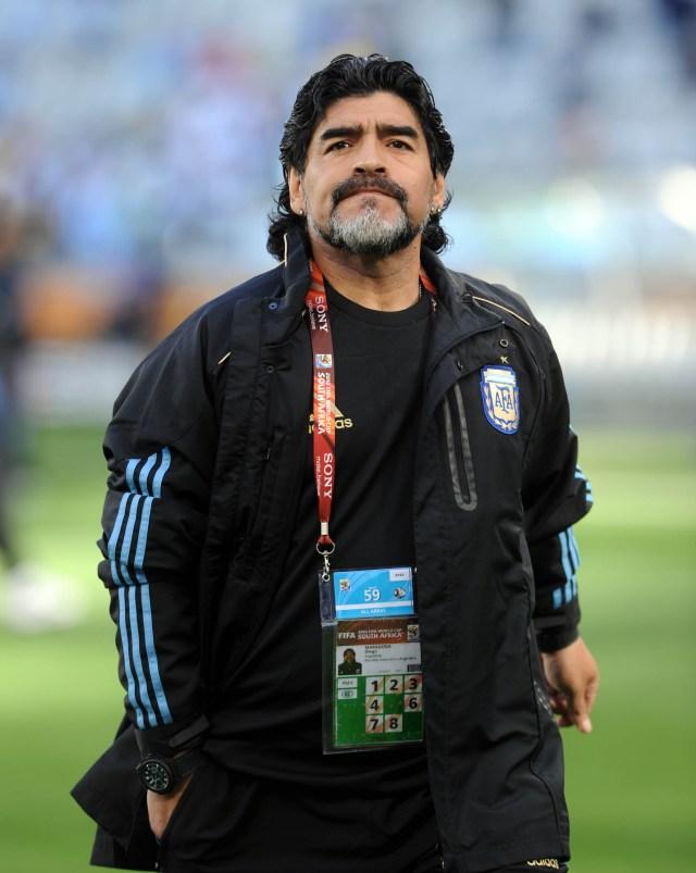 Buenos Aires: Fotografía de archivo del día 03/07/2010 de Diego Armando Maradona, quien cumple 60 años mañana  Foto: Juán Roleri/Télam/CBRI