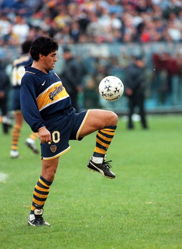 Buenos Aires: Fotografía de archivo de Diego Armando Maradona, quien cumple 60 años mañana. Foto:Télam/cbri 29102020