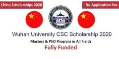 منحة جامعة ووهان الممولة بالكامل لدراسة الماجستير والدكتوراه في الصين 2020