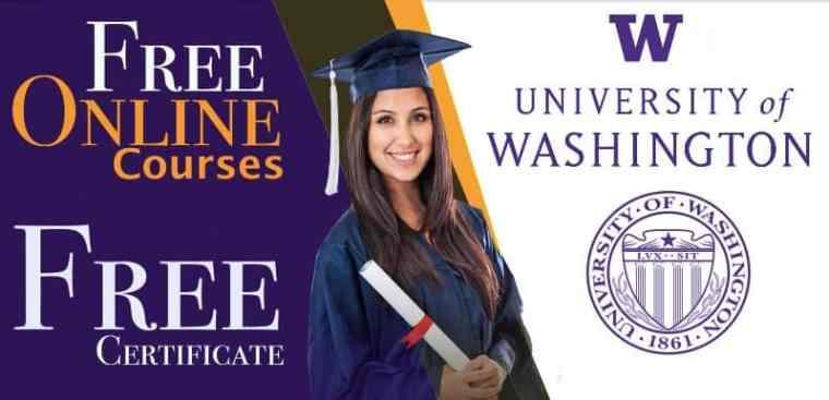 كورسات جامعة واشنطن المجانية على الإنترنت (شهادات مجانية)