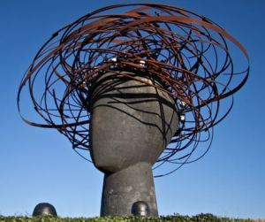 La Cabeza de Ariadna, en el Parque Lineal del Manzanares.