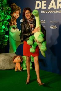 La presentadora Slvia Jato, con Arlo. Foto: Carlos Bouza
