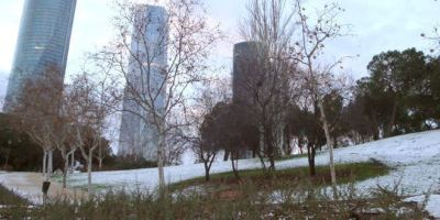 Madrid amaneció llena de nieve en enero de 2015.
