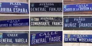 Calles con nombres franquistas