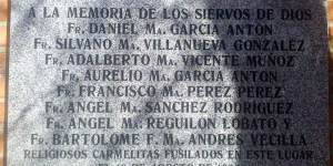 Lápida Carmelitas Cementerio Carabanchel