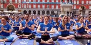 Free Yoga by Oysho en Plaza Mayor