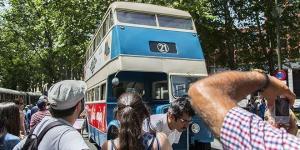 Exhibición de autobuses antiguos. Foto: Eugenio Rigo