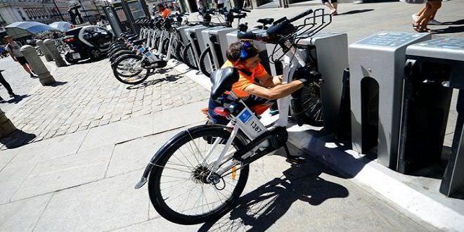 Una de las estaciones de BiciMad