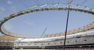 Cubierta del futuro Wanda Metropolitano, la antigua Peineta