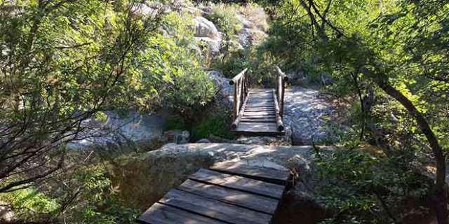 puente en la ruta a los chorros