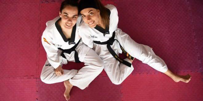 Eva y Marta Calvo, taekwondistas