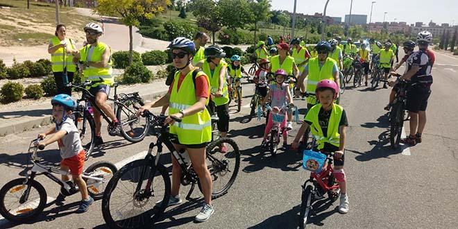 marcha ciclista por el norte de madrid