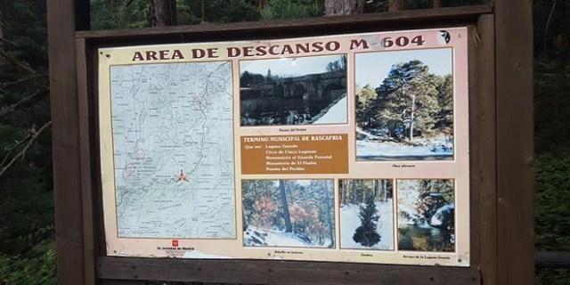Cartel área descanso m 604 cotos