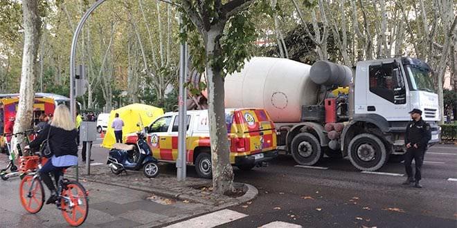 Atropello Motorista Hormigonera Paseo Del Prado