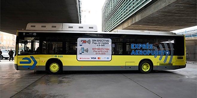 EMT pago tarjeta bancaria móvil autobús express aeropuerto