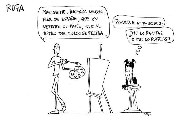 retrato tira cómica