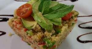 ensalada de quinoa con aguacate