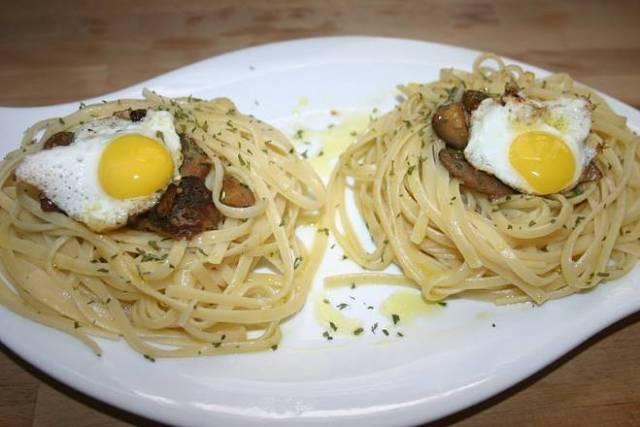 receta tallarines con huevos de codorniz