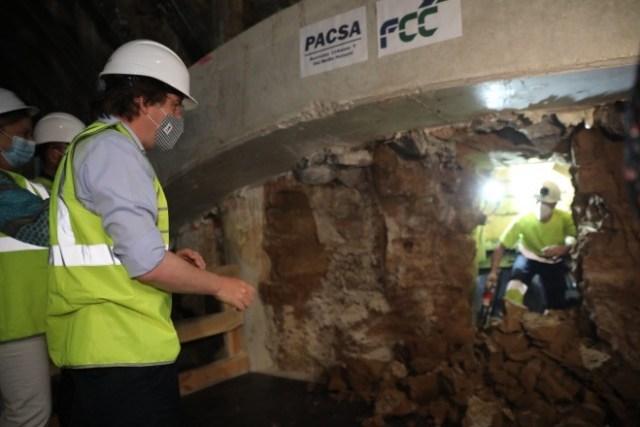 excavación túnel Bailén