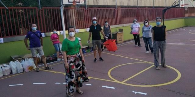 Donantes en los colegios de San Blas