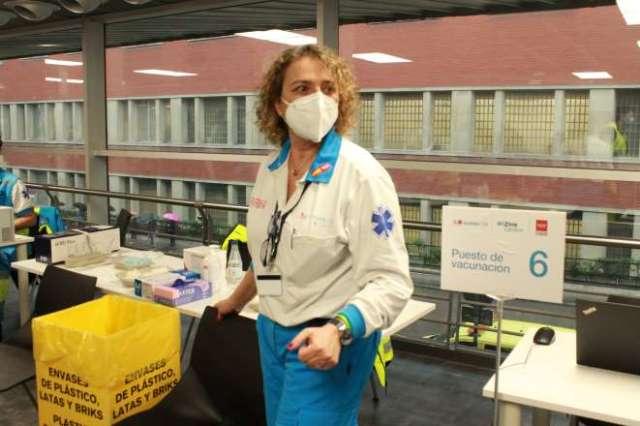 wizink center centro vacunación raquel coordinadora