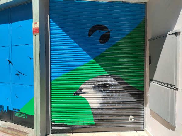 Vencejo común en mural fachada SEO BirdLife