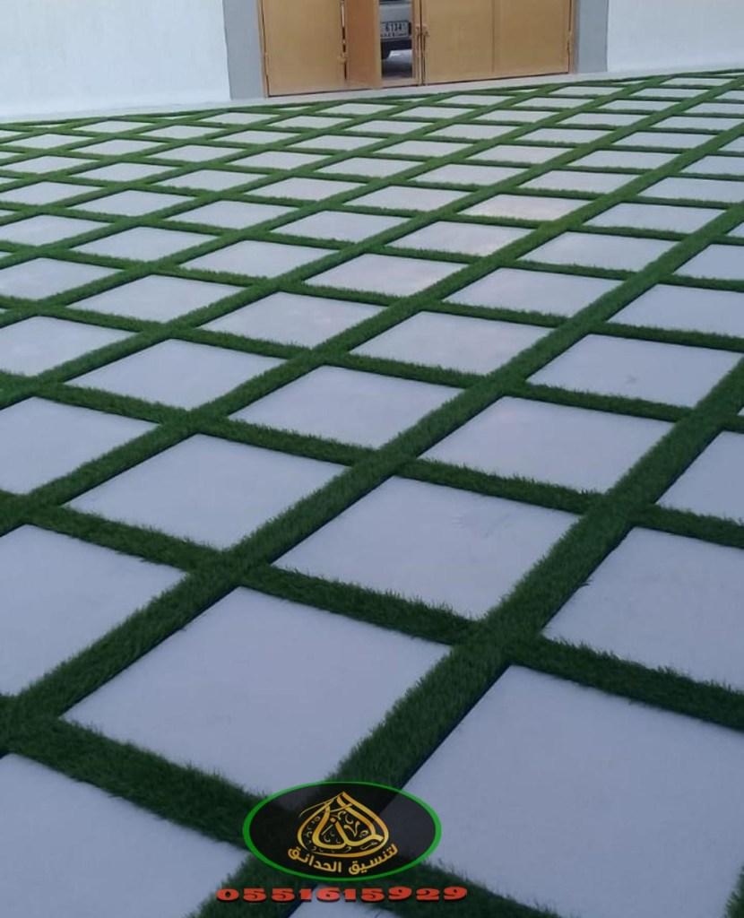 تركيب عشب صناعي ببيشه