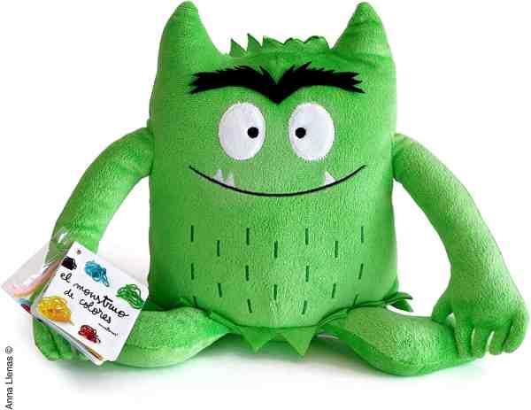 peluche del monstruo de colores verde