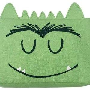 estuche del monstruo de colores verde