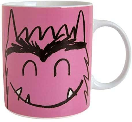 taza de monstruo de colores rosa