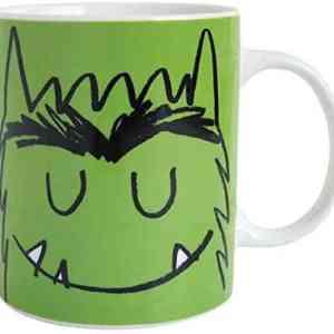 taza del monstruo de colores verde