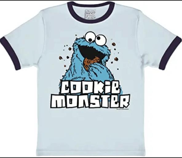 camiseta del monstruo de colores