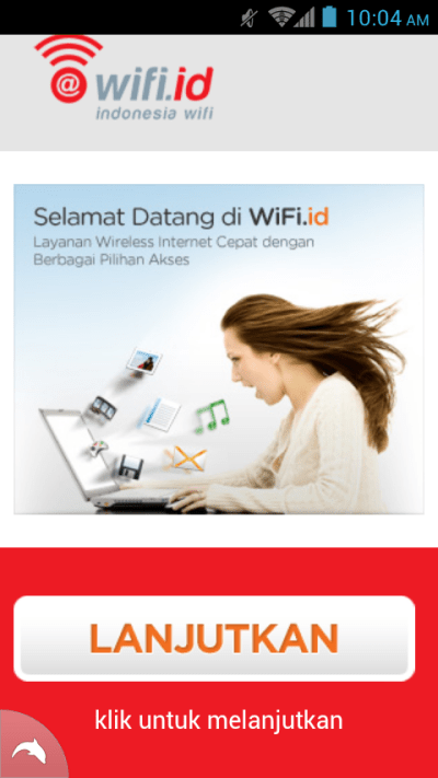 Login Page Mobile/HP/Android | free@wifi.id