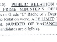 Public relation Officers Jobs