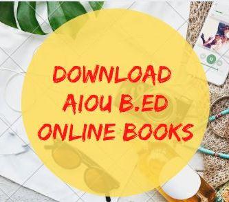 AIOU B.Ed. Online Books
