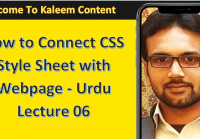 connecting css with webpage lecture 06