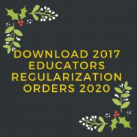 2017 Educators Regularization orders 2020