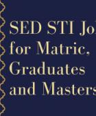 sed sti jobs for matric, graduates and masters