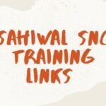 Sahiwal SNC Training Links