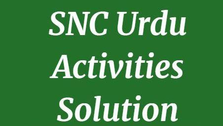 Download SNC urdu Activities Solution