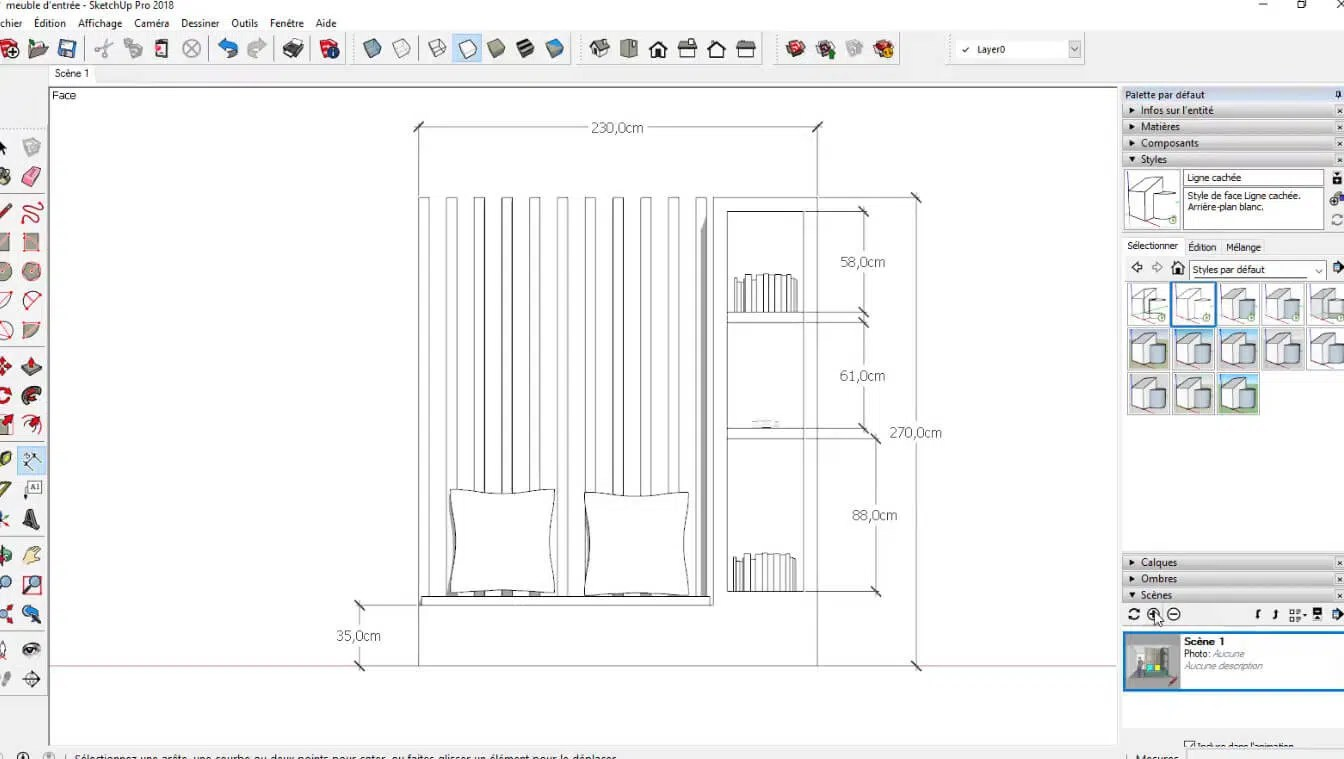 Sketchup Pro Tuto Video Modeliser Un Meuble Elmtec